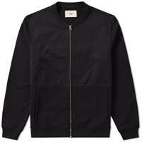 Folk Jersey Bomber Jacket Black