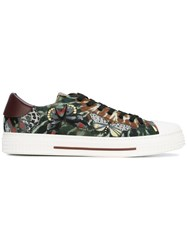 Valentino Garavani Tie And Dye With Butterflies Sneakers Green