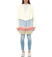 Closed Noah Cotton Blend Cardigan Blanched