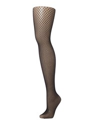 Charnos Honeycomb Net Tights Black