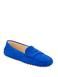 Tod's Gommini Leather Moccasins Cobalt