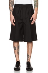 Acne Studios Ryder Wool Blend Bermuda Short In Black