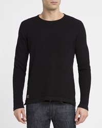 Revolution Black 6397 Pearl Structured Round Neck Sweater