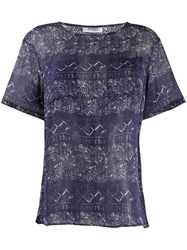 Missoni Vintage Patterned Top Blue