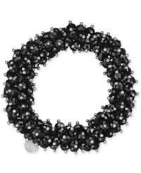 Charter Club After Party Beaded Stretch Bracelet Only At Macy's Black Silver