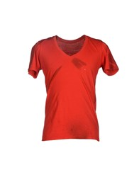 Happiness Topwear T Shirts Men Red