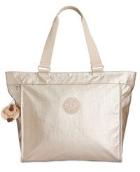 Kipling Extra Large Shopper Tote A Macy's Exclusive Style Sparkly Gold