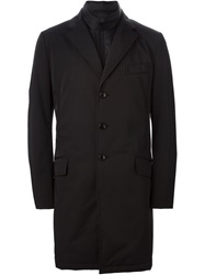 Fay Detachable Gilet Coat Black