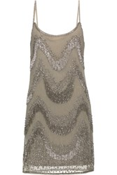 W118 By Walter Baker Tanner Embellished Tulle Mini Dress Gray