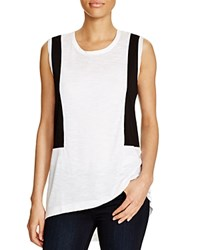 Love Scarlett Color Block Tee White Black