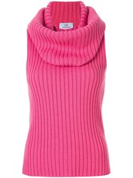 Ck Calvin Klein Chunky Ribbed Top Pink