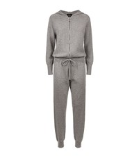 William Sharp Swarovski Cashmere Jumpsuit Female Grey