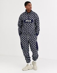 Fila Cepe All Over Print Fleece Cargo Pant In Navy