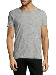 Scotch And Soda Roundneck Cotton Blend Tee Grey Meleange