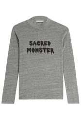 Alexa Chung For Ag Sacred Monster Jersey Turtleneck Top Grey