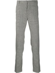 Balmain Prince Of Wales Check Trousers Black
