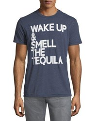 Chaser Wake Up Tequila Crewneck Tee Blue