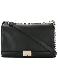 Emporio Armani Logo Buckle Shoulder Bag Black