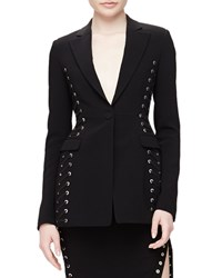 Altuzarra Merrie Lace Up Sided Long Blazer Black Size 40 6