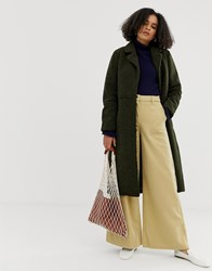 Minimum Belted Wool Coat Green