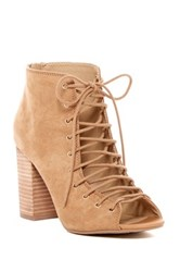Chinese Laundry Biggest Lace Up Heel Beige