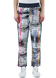 James Long Multi Coloured Woven Sweatpants Black