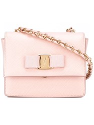 Salvatore Ferragamo Bow Detail Crossbody Bag Pink And Purple