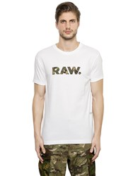 G Star Raw Camo Printed Cotton Jersey T Shirt