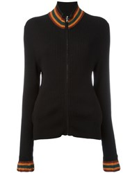 Grace Wales Bonner Palms Zip Front Sweater Black