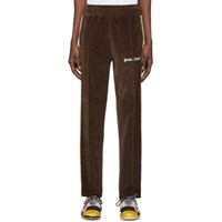 Palm Angels Brown Chenille Track Pants