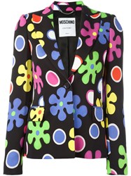 Moschino Flower Power Blazer Black