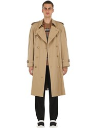 Burberry Oversize Westminster Cotton Trench Coat Honey