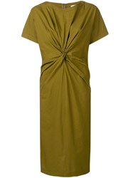 Erika Cavallini T Shirt Dress With A Front Knot Green