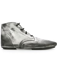 Rundholz Perforated Detailing Worn Out Effect Boots Grey