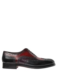 Santoni Brogue Tricolor Leather Oxford Shoes