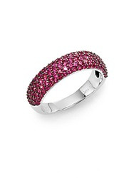 Effy Final Call Ruby And 14K White Gold Ring Red