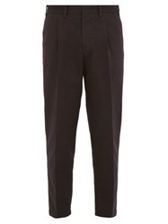 The Gigi Tonga Pleated Tapered Leg Cotton Chinos Navy