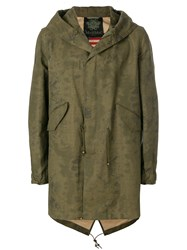 Mr And Mrs Italy Antique Effect Midi Parka Green
