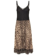 Red Valentino Lace Trimmed Dress Multicoloured
