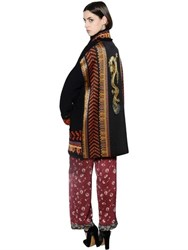 Etro Wool Knit And Dragon Jacquard Cardigan