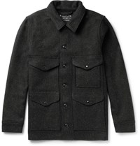 Filson Mackinaw Cruiser Wool Felt Overshirt Gray
