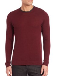 The Kooples Leather Trim Wool Sweater