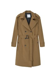 Mango Double Breasted Trench Beige