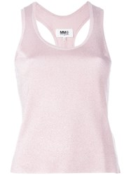 Maison Martin Margiela Mm6 Maison Margiela Shimmer Knitted Tank Top Pink And Purple