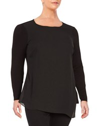 Vince Camuto Plus Ruched Side Tunic Rich Black