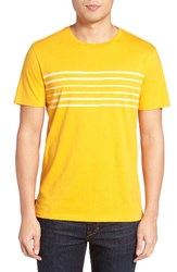 Jack Spade Men's Stripe Print T Shirt Yellow