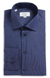 Eton Men's Big And Tall Trim Fit Solid Dress Shirt Blue
