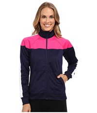 Brooks Rally Jacket Navy Bloom Women's Coat Purple