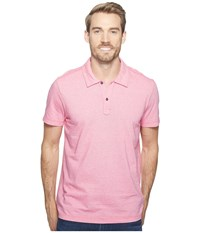 Agave Short Sleeve Polo Italian Pique In Berry Berry Men's Clothing Burgundy