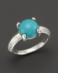 Ippolita Rock Candy Sterling Silver Single Stone Prong Knife Edge Ring In Turquoise Blue